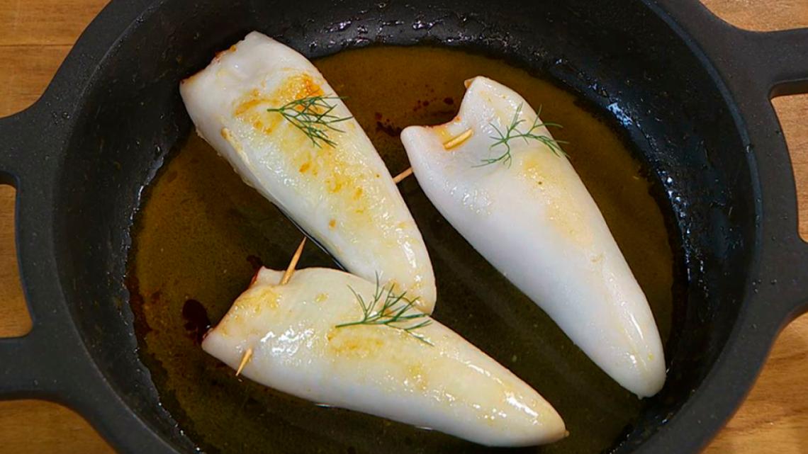 Receta de calamares rellenos de sobrasada