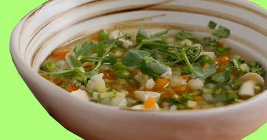Receta sopa de verduras con tofu
