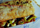 Bocadillo de ventresca, guindillas y cacahuetes