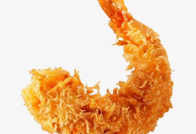 Gambas en tempura y queso fresco