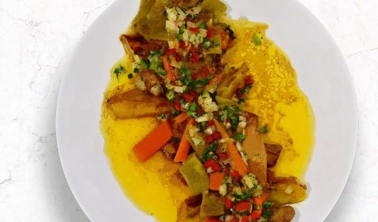 Pollo DG( receta de Camerún)