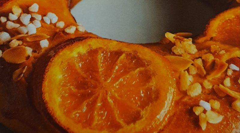 Receta roscón de Reyes con naranja y almendrada